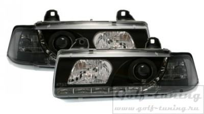 BMW E36 2Дв Фары Devil eyes, Dayline черные