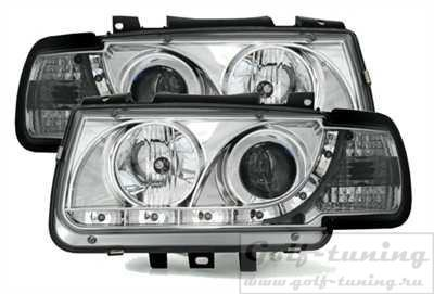 VW Polo 6N 94-99 Фары Devil eyes, Dayline хром
