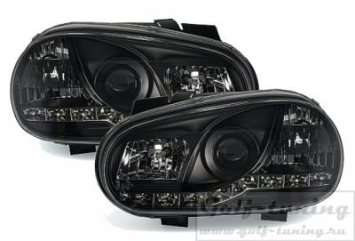 VW Golf 4 Фары Devil eyes, Dayline черные