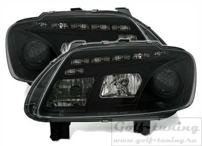 VW Touran 1T 03-06 Фары Devil eyes, Dayline черные