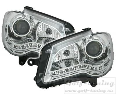 VW Touran GP 06-10 Фары Devil eyes, Dayline хром