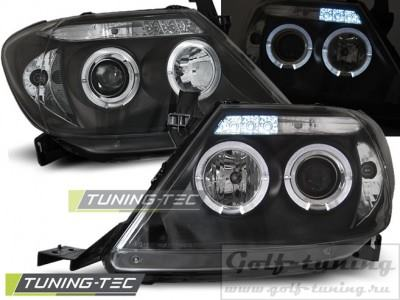 Toyota Hilux 05-11 Фары Angel eyes черные