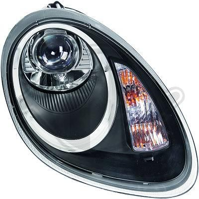 Porsche Boxster 04-08 Фары tube light черные