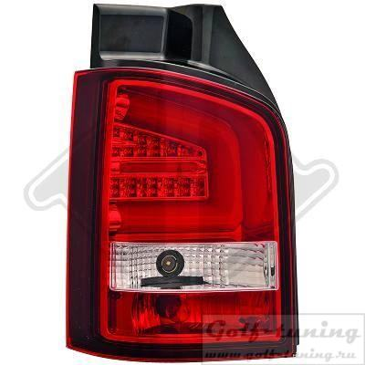 VW T5 GP 09-15 Фонари Lightbar design красно-белые