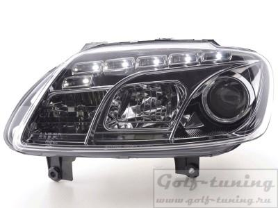 VW Touran 1T 03-06 Фары Devil eyes, Dayline хром