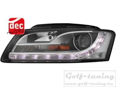 Audi A5 06-08 Фары Devil eyes, Dayline черные SWA15DLGXB
