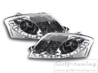 Audi TT 98-05 Фары Devil eyes, Dayline хром