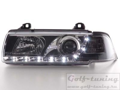BMW E36 2Дв Фары Devil eyes, Dayline хром