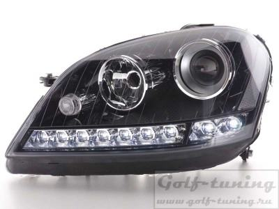 Mercedes W164 05-08 Фары Devil eyes, Dayline черные