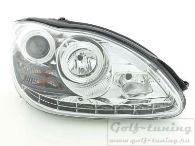 Mercedes W220 02-05 Фары Devil eyes, Dayline хром
