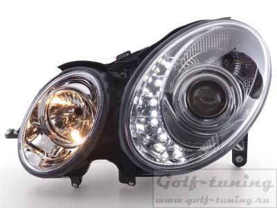Mercedes W211 02-06 Фары Devil eyes, Dayline хром
