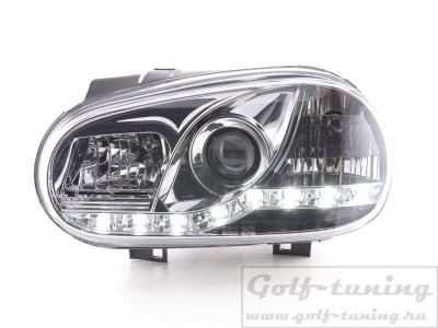 VW Golf 4 Фары Devil eyes, Dayline хром