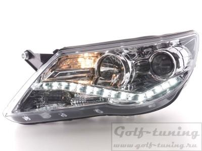 VW Tiguan 07-11 Фары Devil eyes, Dayline хром