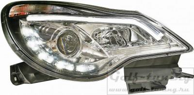 Opel Corsa D 11-14 Фары Light tube design хром HD 1814587