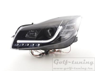 Opel Insignia 08-13 Фары Devil eyes, Dayline черные Lightbar Design