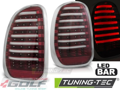 MINI R60 Countryman 10-14 Фонари Led bar красно-белые