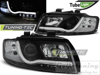 Audi A4 00-04 Фары LED TUBE LIGHTS черные