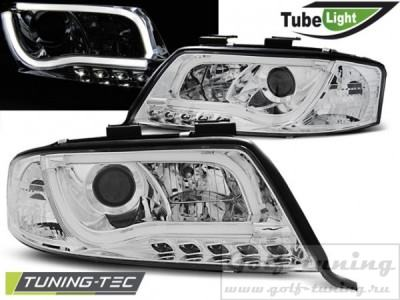 Audi A6 01-04 Фары Led Tube Lights хром