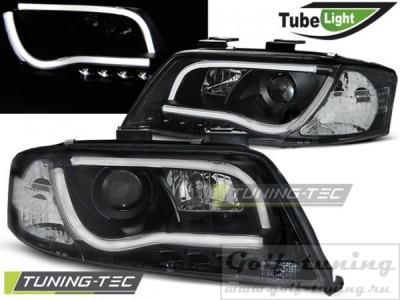Audi A6 01-04 Фары Led Tube Lights черные