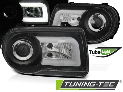 Chrysler 300C 05-10 Фары Tube light черные