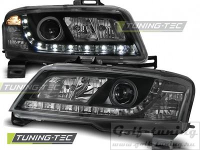 Fiat Stilo 3дв 01-08 Фары Devil eyes, Dayline черные