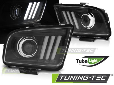 Ford Mustang 04-09 Фары tube light design черные
