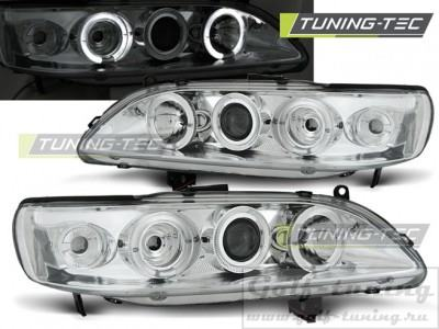 Honda Accord 98-02 USA Фары Angel eyes хром