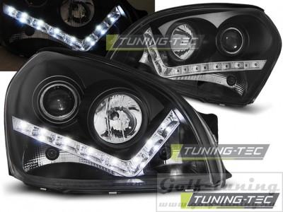 Hyundai Tucson 04-10 Фары Devil eyes, Dayline черные