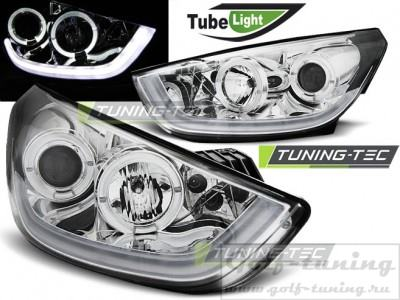 Hyundai Tucson IX35 10-13 Фары Tube lights хром