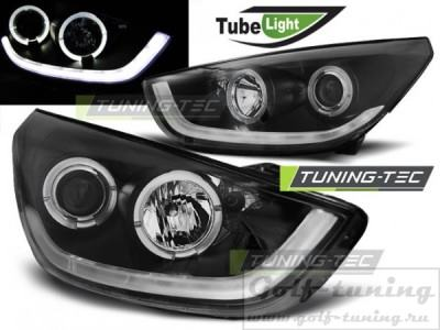 Hyundai Tucson IX35 10-13 Фары Tube lights черные