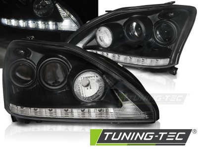 Lexus RX 330/350 03-08 Фары Devil eyes, Dayline черные
