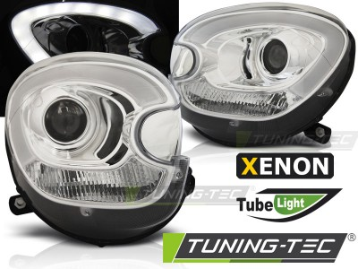 Mini cooper R60 Counryman 10-14 Фары tube light design хром под ксенон
