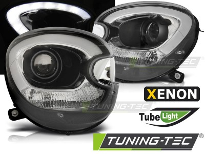 Mini cooper R60 Counryman 10-14 Фары tube light design черные под ксенон