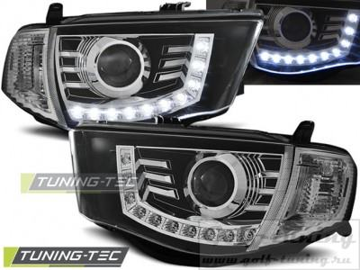 Mitsubishi L200 06-10 Фары Devil eyes, Dayline черные
