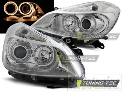 Renault Clio 05-09 Фары Angel eyes хром