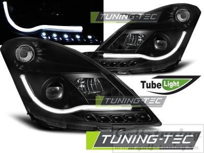 Suzuki Swift 10-13 Фары Tube lights черные