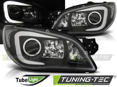 Subaru Impreza II GD 06-07 Фары tube light design черные