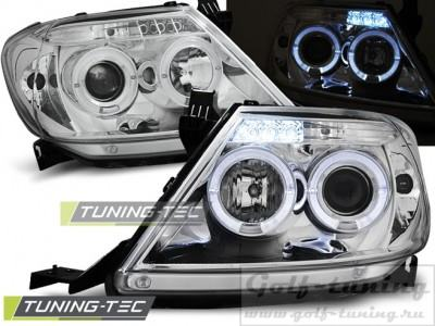 Toyota Hilux 05-11 Фары Angel eyes хром