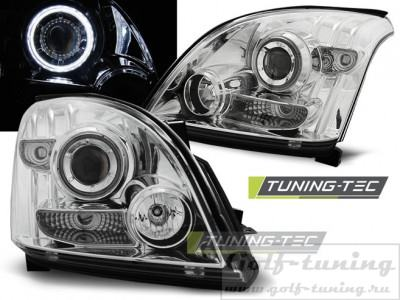 Toyota Land Cruiser 120 03-09 Фары Angel eyes хром