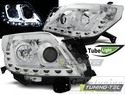 Toyota Land Cruiser 150 09- Фары Tube lights хром
