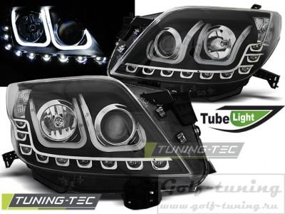 Toyota Land Cruiser 150 09-13 Фары Tube lights черные