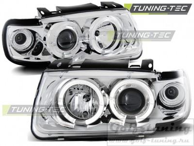 VW Polo 6N 94-99 Фары Angel eyes хром