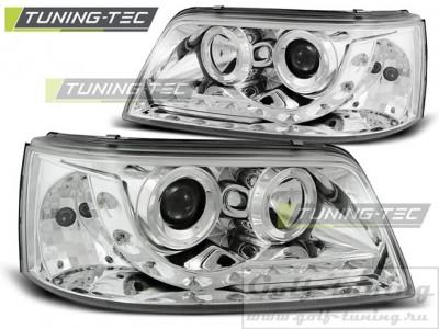 VW T5 03-09 Фары Devil eyes, Dayline хром