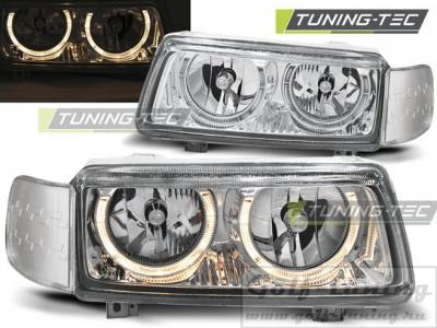 VW Passat B4 93-97 Фары Angel eyes хром