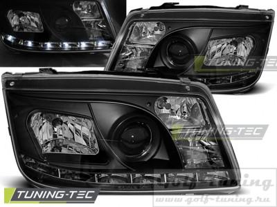 VW Bora 98-05 Фары Devil eyes, Dayline черные