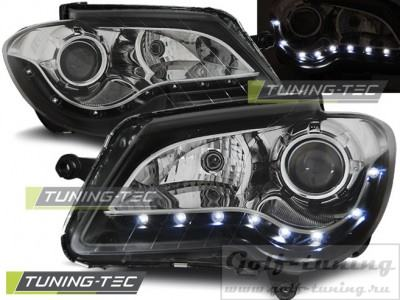 VW Touran 06-10 Фары Devil eyes, Dayline черные