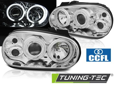 VW Golf 4 Фары CCFL ANGEL EYES хром