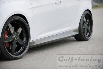 Ford Focus 11- Пороги Carbon Look