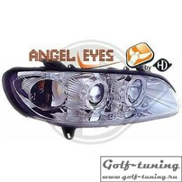 Opel Omega B 94-99 Фары с ангельскими глазками и линзами хром