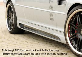 BMW E46 Накладки на пороги Carbon Look